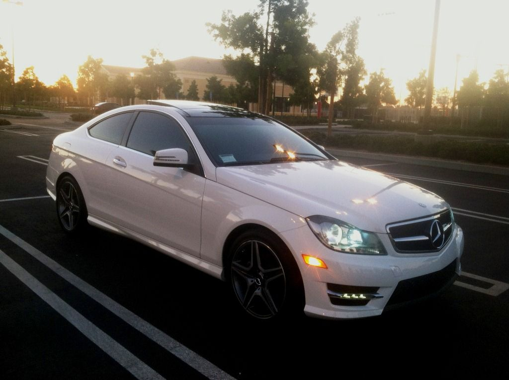 Got it tinted today my 2013 c250 polar white for 2013 mercedes benz c350 coupe